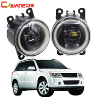 Cawaner For Suzuki Grand Vitara 2 / II Closed Off Road Vehicle JT 2005 2015 Car 4000LM LED Fog Light Assembly Angel Eye DRL 12V
