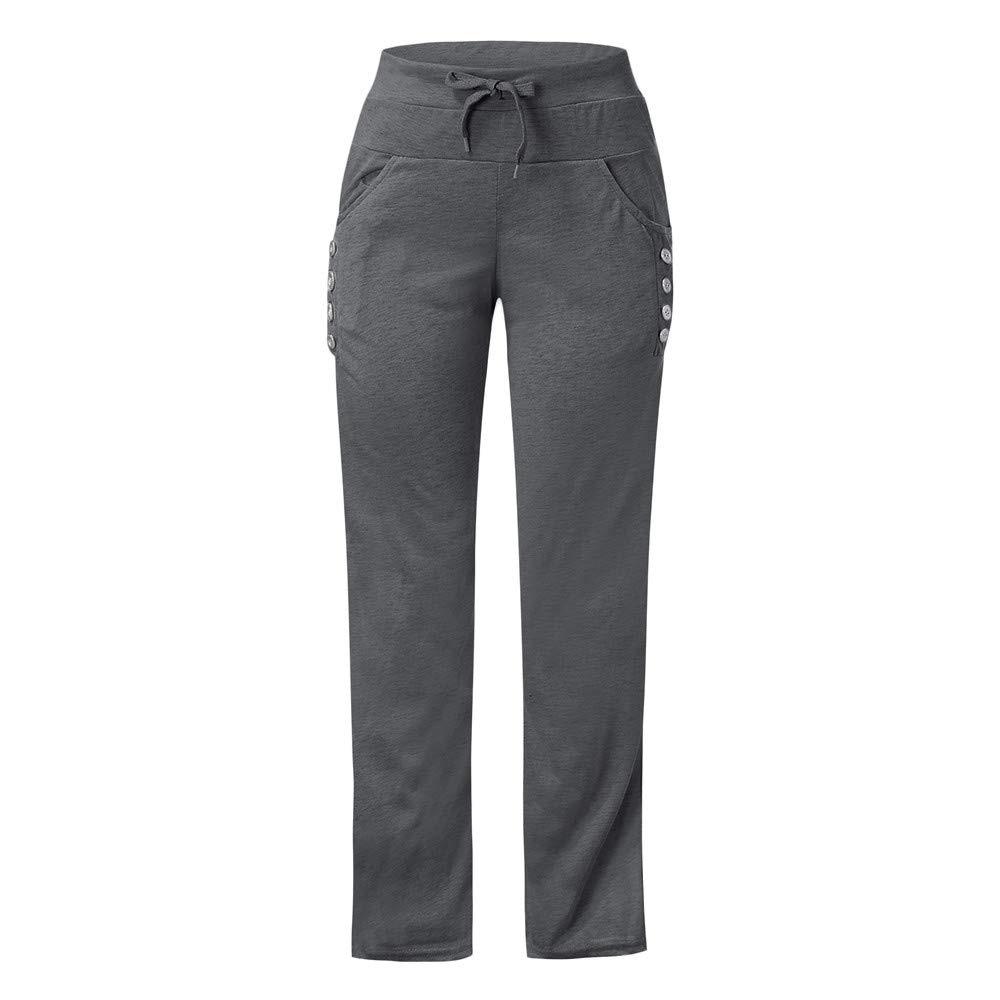 @1  15 шт. Женские широкие штаны для йоги Спорт Свободные повседневные зашнуровать длинные брюки сплошно ①