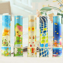 2PCS Rotating Kaleidoscope Toys Childrens Puzzles Nostalgic Reflection Vision Cartoon Fun Real Scenes Big