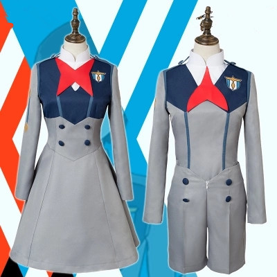Anime Darling in the Franxx CODE 015 figure Ichigo CODE 016 figure Hiro Role Play Uniform