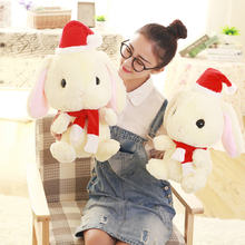 Yesfeier 32/40cm Cute Christmas Rabbit Plush Toys Rabbit Soft Plush Toy Baby Placate Toy for Girls Comfort Doll Plush(China)