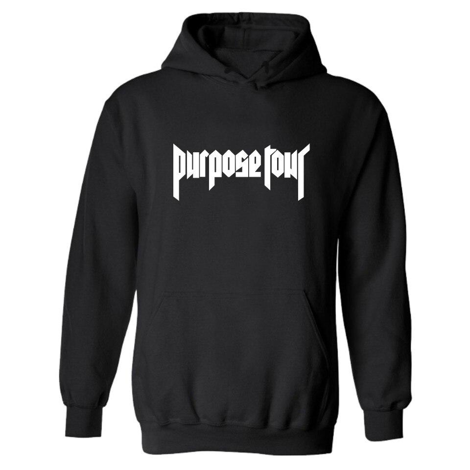 2016 Fashion PURPOSE TOUR Hooded Hoodies JUSTIN BIEBER Hoodies and Sweatshirts super star clothing Plus Size 4XL