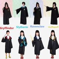 Harri Potter Cosplay Costume de Gryffondor Serpentard Serdaigle poufsouffle de Robes de Cravates Harry de Manteaux Pour Adultes et Enfants