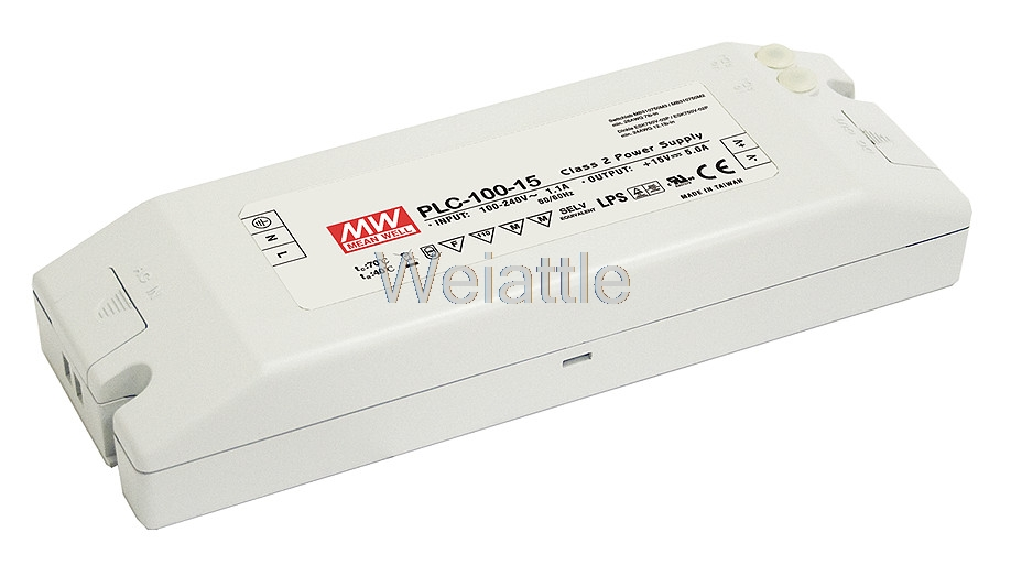 [Cheneng]MEAN WELL original PLC-100-12 12V 5A meanwell PLC-100 12V 60W Single Output Switching Power Supply original mean well lps 100 12 single output 8 4a 100w 12v meanwell power supply open frame lps 100