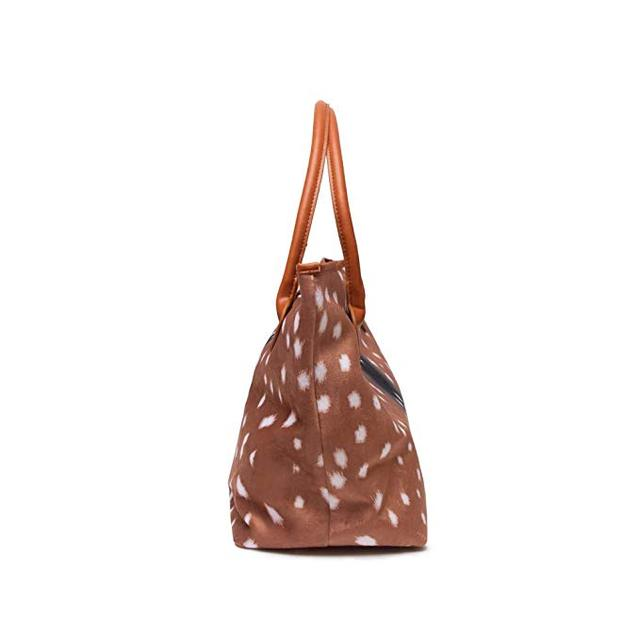 Deer Tote Purse Round Top Handle Christmas Handbag Soft Fabric Durable Purses for Women