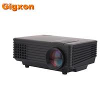 Gigxon-G805A 800*480 Altos lúmenes de Cine En Casa Llevó El Proyector Para la Educación Mesa de Reunión de la Oficina de Publicidad Móvil PC