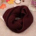 Mulheres Macio Inverno Quente 2 Círculo Cable knit cowl neck scarf Lã Cowl Longo Xale Menina Unisex Cachecol de lã 2016 Venda Quente