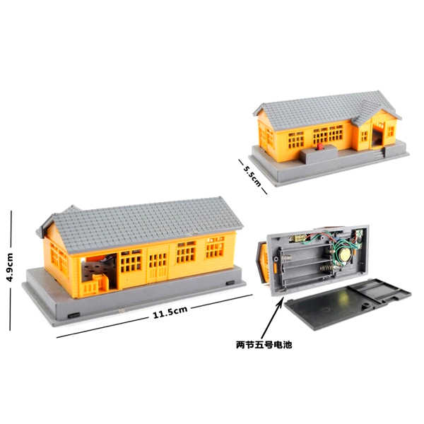 D509  electric rail Tmas the train toy general track scene parts (acousto-optic house) Educational Boy/ Kids Toy