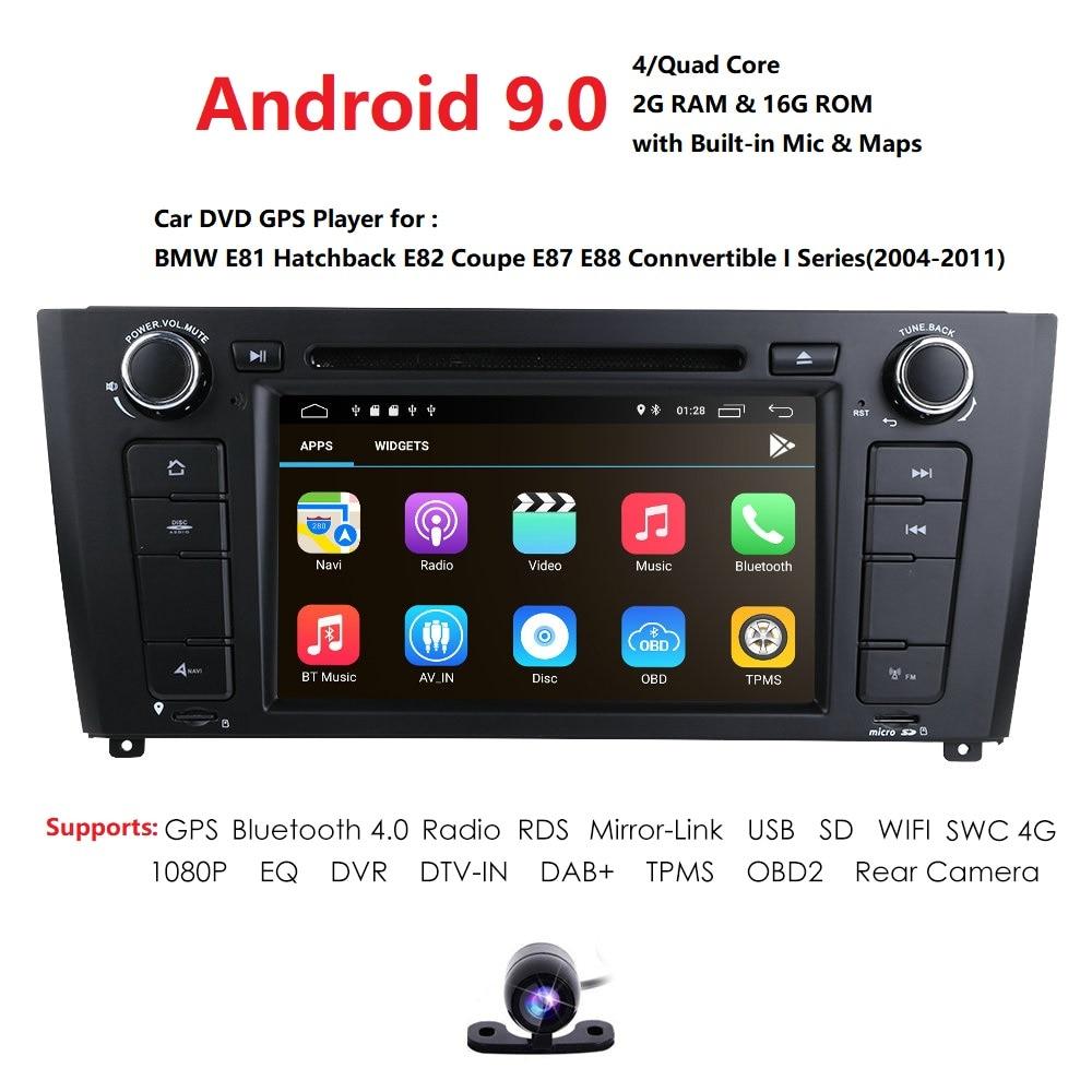 4G Android8.1 QuadCore 2GB RAM 16GB ROM lecteur DVD de voiture pour BMW 1 série E81 E82 E88 116i 118i 120i 130i GPS BT Radio stéréo RDS