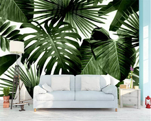 Beibehang wallpaper retro tropical rainforest palm banana leaves living room TV background wall 3d wallpaper papel de parede beibehang nostalgic papel de parede retro imitation wooden wallpaper living room study tv background leisure bar background wall