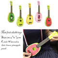 2016 new mini children to learn fruits ukulele guitar can play musical instruments toys 36.5*12*4cm