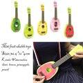 2016 nuevo mini niños aprender frutas instrumentos musicales guitarra ukulele puede play toys 36.5*12*4 cm