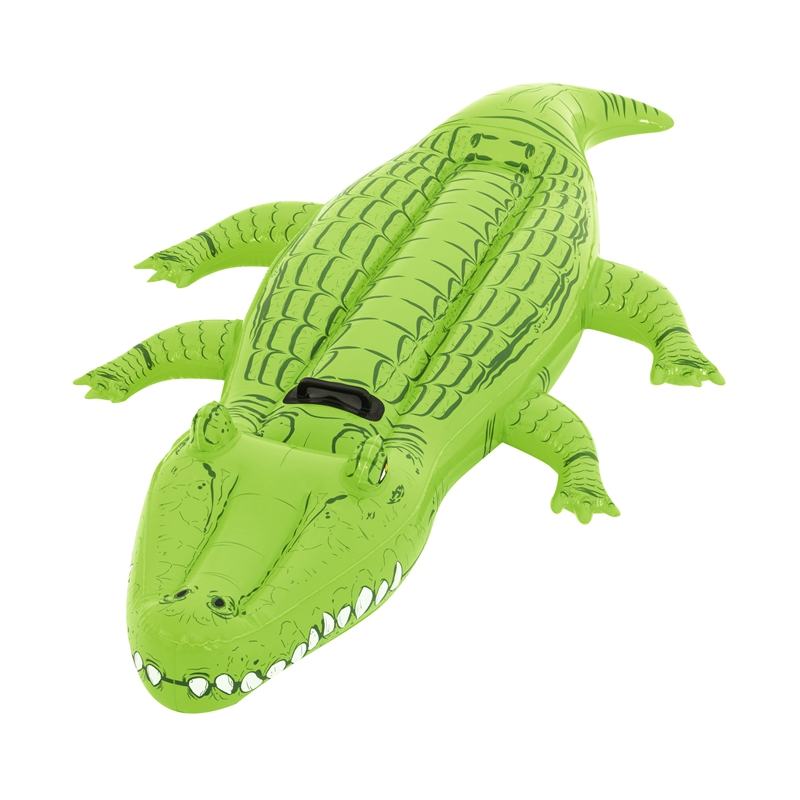 80'' Inflatable Crocodile Rider With Handles Ride on Pool Float Swimming Water Toys For Kids Mattress Fun Beach Buoy|Swimming Rings| |  - title=