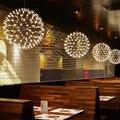 Современные светодиодные подвесные светильники из нержавеющей стали  круглые фейерверки  сферические световые подвесные светильники