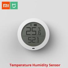 Xiao mi jia sensor de temperatura inteligente, sensor de temperatura bluetooth hu mi dity tela lcd termômetro digital medidor de umidade aplicativo mi