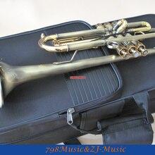Античный финиш труба B-плоские монельные клапаны с Чехол ртом профессиональная труба