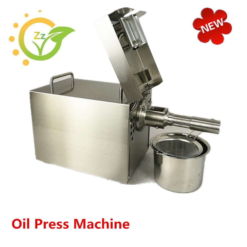 Hot Cold Oil Presser household oil expeller machine for beans peanuts  seeds small expeller sunflower oil extraction machine