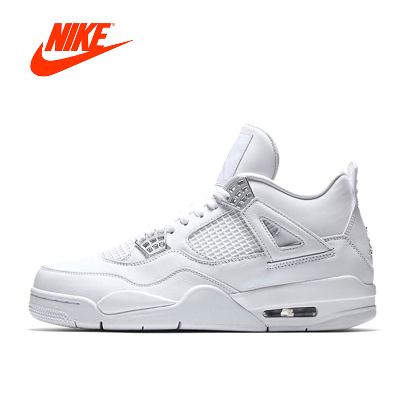 New Arrival Authentic Nike Air Jordan 4 Laser AJ4 Breathable Men's Basketball Shoes Sports Sneakers спортивные шорты nike air jordan nike jordan aj5