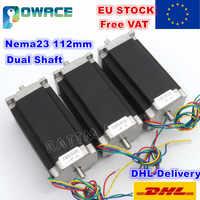 [EU Delivery&Free VAT]  3Pcs Nema23 112mm Dual Shaft 425 Oz-in CNC Stepper Motor Stepping Motor/3.0A 23HS2430B