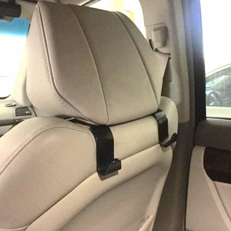 ALWASYME 1 قطع العالمي سيارة عودة مقعد الخفية هوك السيارة الخلفي مسند الرأس بالمقعد شماعات حامل هوك ل حقيبة تسوق محفظة القماش
