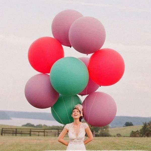 헬륨 풍선 공 선물 용품 무료 배송 큰 사이즈 36 인치 거대한 라텍스 풍선 풍선