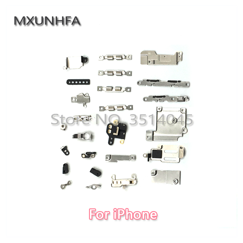 Full Inner Small Metal Parts Accessories For IPhone 6 6S 7 8 Plus X XR XS 5 5S SE 5c Inside Holder Bracket Shield Plate Set Kit