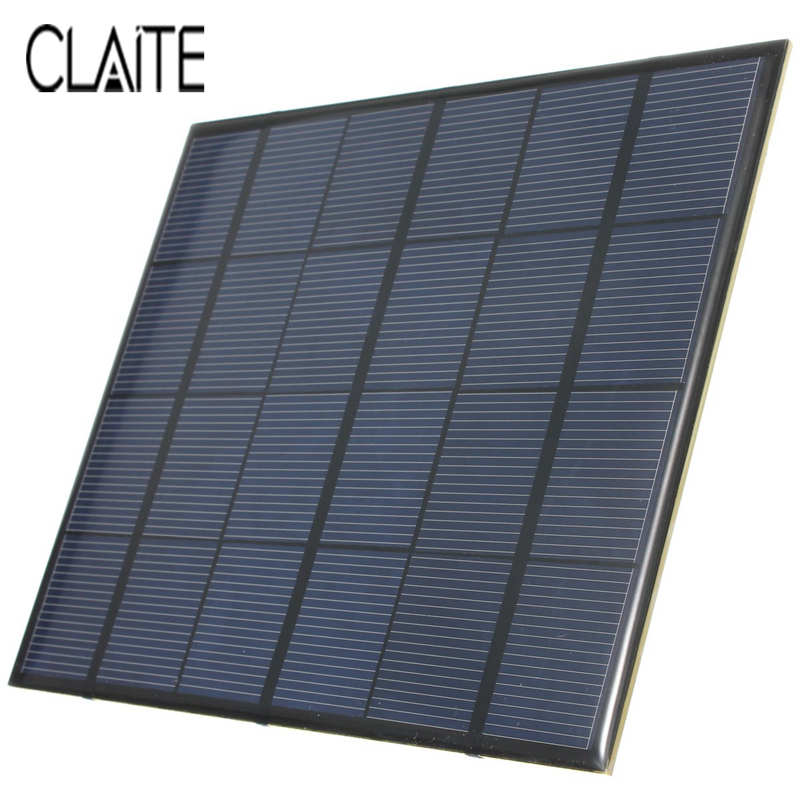 Hot Sale 3.5W 6V 583mA Monocrystalline silicon Epoxy Mini Solar Panel DIY Solar Module System Solar cells Battery Phone charger