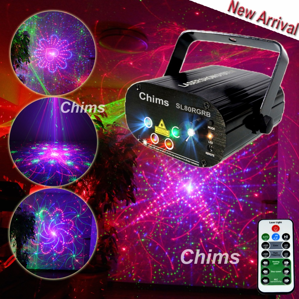 Chims Stage Light RGB Disco Laser 80 Pattern Laser Light DJ Led Lights Effect Colorful Party