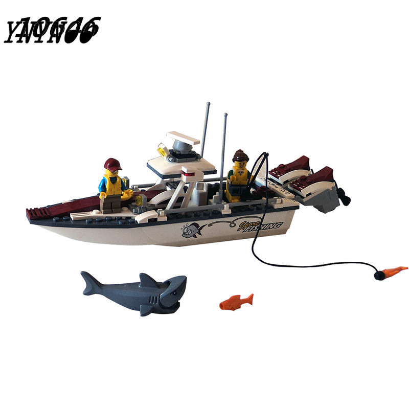 (YNYNOO) 2017 New Bela 10646 160Pcs City Figures Fishing Boat Model Building Kits Blocks Bricks Toys For Children Gift 10646 160pcs city figures fishing boat model building kits blocks diy bricks toys for children gift compatible 60147