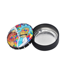 Rick And Morty Herb/Tobacco Box Container Storage Stash Jar 25 ML Herb Case Cigarette Round Tin Click Clack Pop Up
