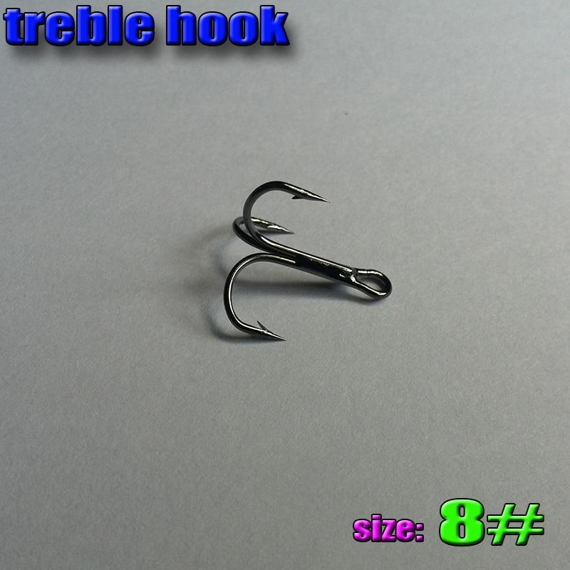 2017new treble hook size 8 high carbon steel number 2000pcs lot