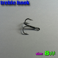 2017new treble hook size:8# high carbon steel number:2000pcs/lot