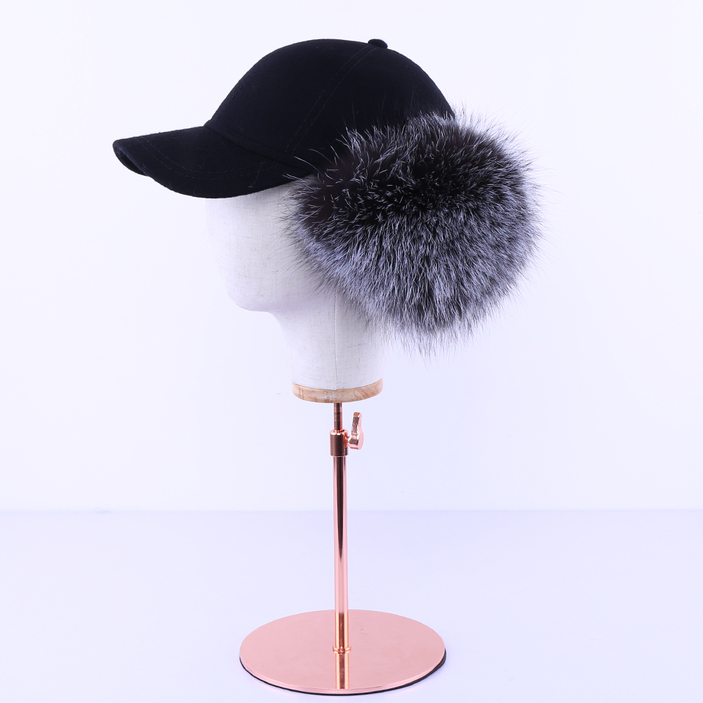 Mink Hat Women winter mink fur grass leisure hat, diamond, autumn winter, Korean version, warm baseball cap, whole mink. MZ15 - 5