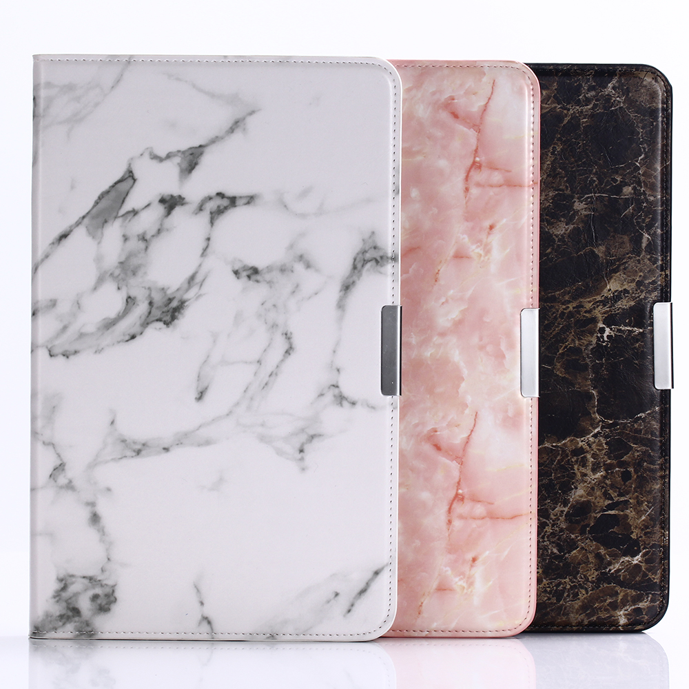 Luxury Marble Stand PU Leather Case Flip Protective Cover For Samsung Galaxy Tab A 2016 T580 T585 SM-T585 SM-T580 Coque Funda 100pcs lot luxury 360 degrees rotating stand pu leather flip case cover for samsung galaxy tab a 10 1 t580 android tablet t580