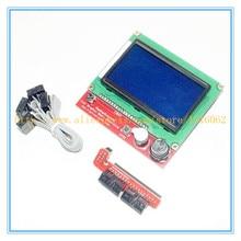 Горячие Продажи 3D Комплект Принтера Smart Parts ПЛАТФОРМЫ 1.4 Контроллер Панели Управления ЖК-Дисплей 12864 Motherboard Monitor Синий Экран Модуль