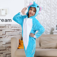 Girl Boy Unisex Kids Children Baby Winter Animal Blue Elephant Bodysuit Pajamas Anime Costume Halloween Cosplay