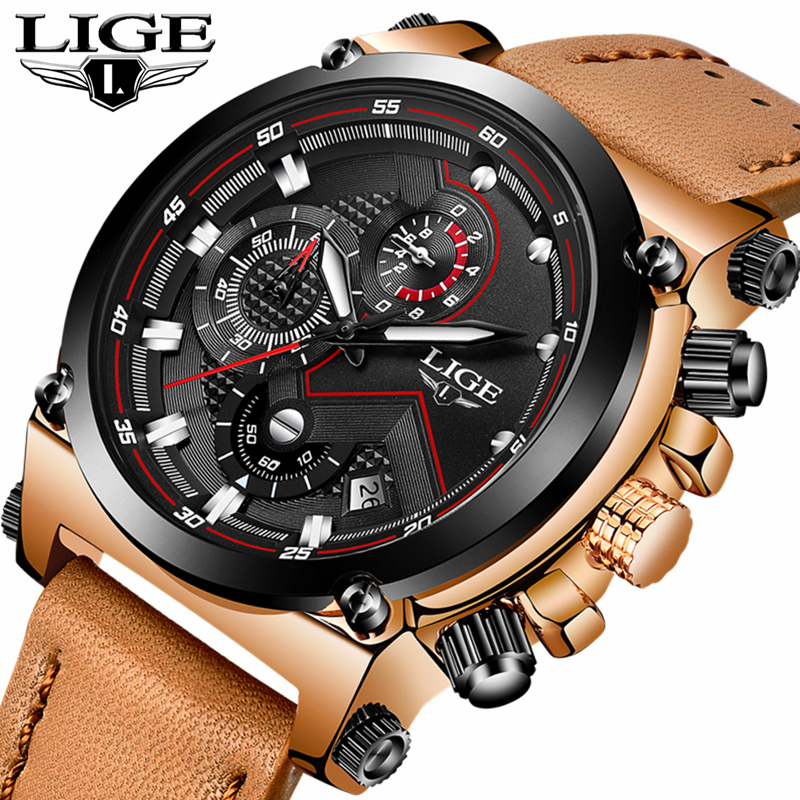 Men's Large Dial Watch Military Sports Outdoor Waterproof