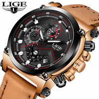 Mens Watches LIGE Top Brand Luxury Men Large Dial Clock Men's Stainless Steel Waterproof Watch Military Sports Watch Relogio+Box