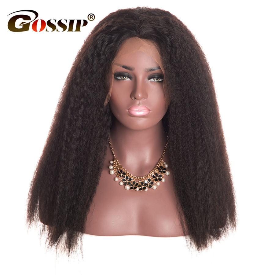 Indian Human Hair Wig Full Lace Human Hair Wigs For Black Women Gossip Hair Remy Kinky