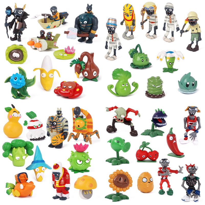 Action-Figure Model-Toys Zombies Plants Children Pvz-Collection for 2-8cm 8-10pcs/Set