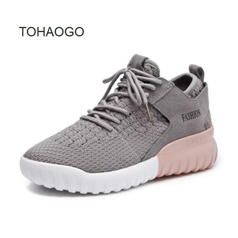 2018 spring autumn new sneaker fashion Fitness shoes Red, black, gray Non-slip Wearable thick end casual women Shoe size 35-40