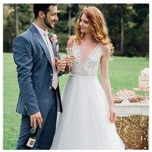 LAYOUT NICEB Beach Wedding Dresses V-neck Bride Dress