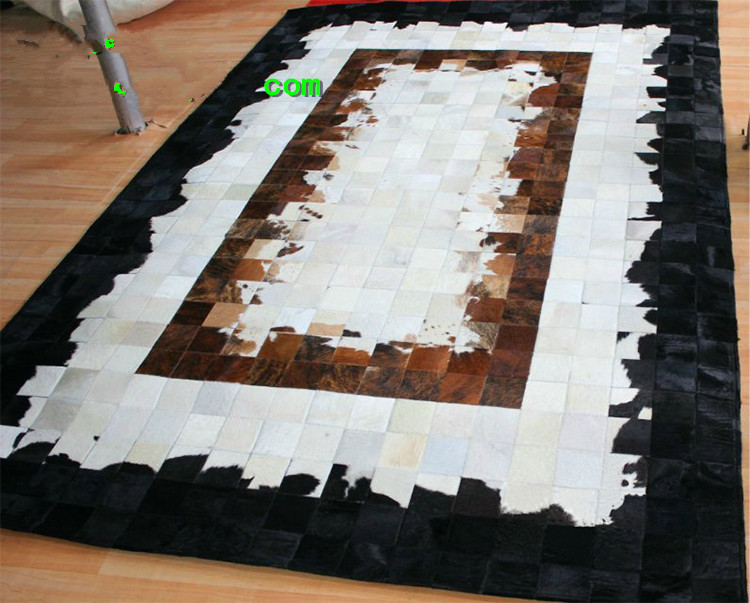 ᗛEnvío libre 100% cuero genuino natural de la vaca alfombras para ...