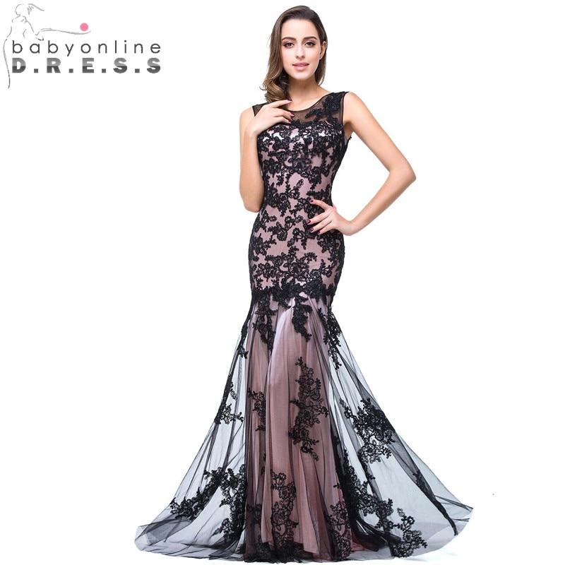 34 Цвета изготовленные по индивидуальному заказу черное детское платье силуэта «русалка» длинное вечернее платье, пикантное платье с откры...