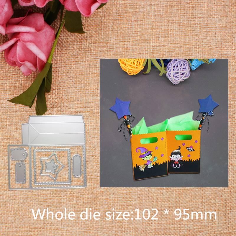 Star Tag Bag Metal Steel Cutting Dies DIY Scrapbook Album Paper Card Stencil For Card Crafts 2019 New 102 95mm in Cutting Dies from Home Garden