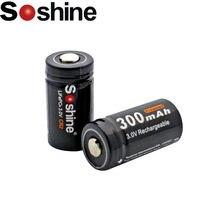 2 sztuk Soshine 300mAh CR2 15266 baterii LiFePO4 CR2 akumulator z pojemnik na baterie