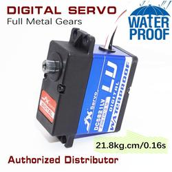 JX DC5821LV 22kg 1:8 1:10 digital standard servo metallic gear 180 angle water proof for robot arm/rc car/boat/airplane servo