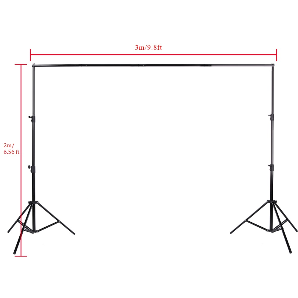 DE-STOCK-2-8-3m-Adjustable-Backdrop-Stand-Crossbar-Kit-Set-Photography-Background-Support-System-for