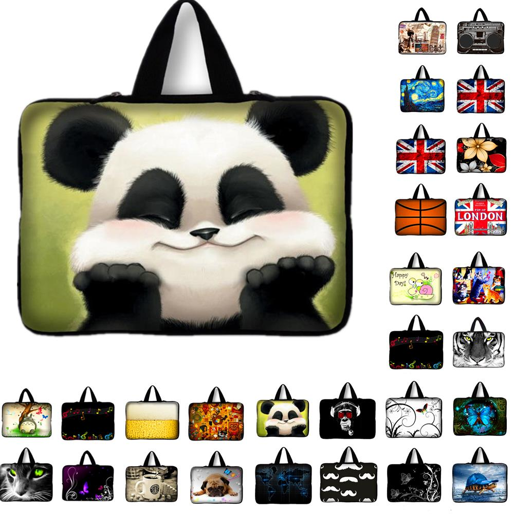 Panda 10.1 11.6 13.3 15.4 15.6 17.3 17.4 Neoprene Laptop Notebook Bag Tablet Sleeve Computer Case For Macbook Air/Pro For Asus
