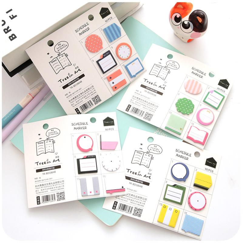 24pcs/lot Cute Kawaii Notepad Memo Pads Cute Cartoon N Times Mini Post It Sticker Office School Supplies Stationery Gift 01906